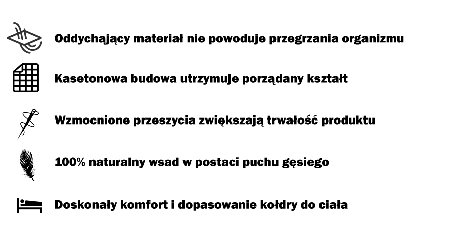 kołdry puchowe producent